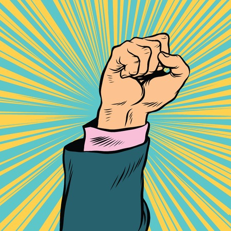 Pop art fist up, a symbol of protest