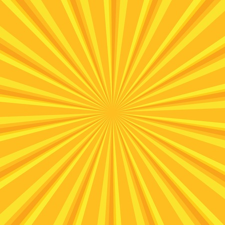 sun beam: Yellow colored back pop art style background. backdrop line space. sun beam template. Vector illustration