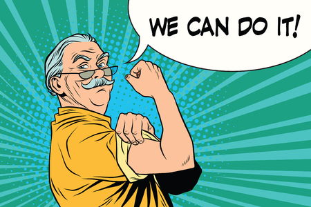 we can do it old man Illustration
