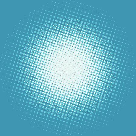 backlit: Halfton white spot on a blue background Illustration