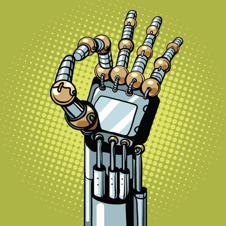Robot OK ok geste main Illustration