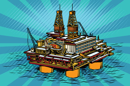 subsea: Oil and gas producing offshore platform