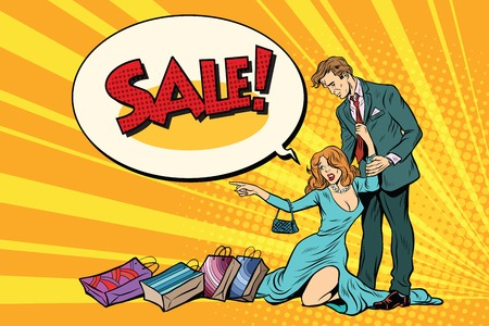 Wife and husband on sale Illustration