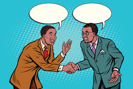 Business negotiations businesspeople shaking hands Vectores
