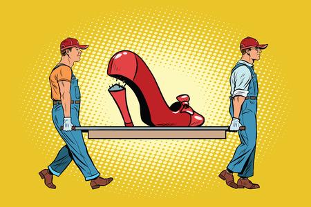 womens work: Womens shoes the heel broke