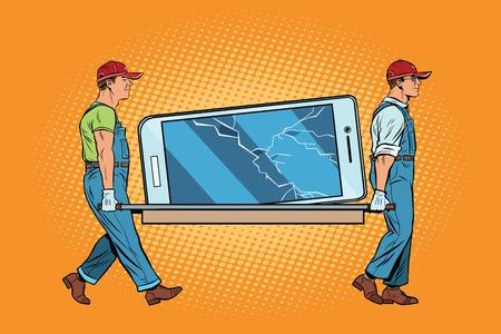 screen: Repair of smartphones broke the screen
