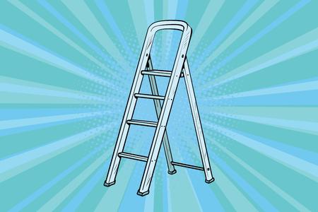 家の修理のためアルミはしご