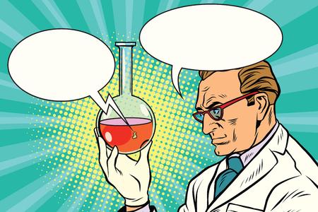 Químico del científico habla sobre el análisis Foto de archivo - 75452159