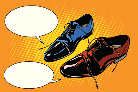 Business meeting classic shoes Illustration