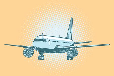 Landing of a passenger plane Illustration