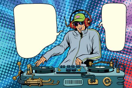 Musique mix party boy DJ Banque d'images - 75783055