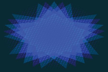 青い星の抽象的な背景