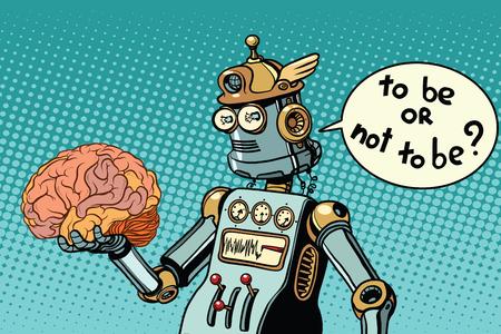 Künstliche Intelligenz und das menschliche Gehirn Vektorgrafik