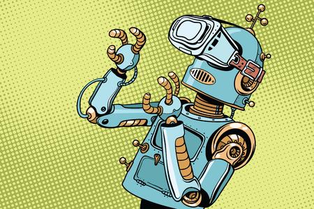 VR メガネでレトロなロボットが怖い