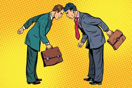 ビジネス競争、競合している 2 つのビジネスマン 写真素材