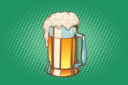 Mug of foamy beer Vektorové ilustrace