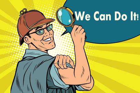 detective  we can do it Banco de Imagens - 79671660