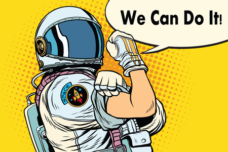 we can do it astronaut Banco de Imagens - 79671708
