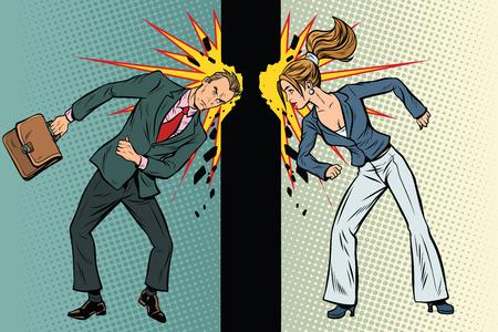 비즈니스에서 남성과 여성의 경쟁