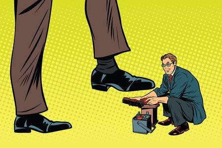 Petite chaussure pour le grand homme Banque d'images - 79671711