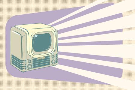 retro television vintage illustration Ilustrace