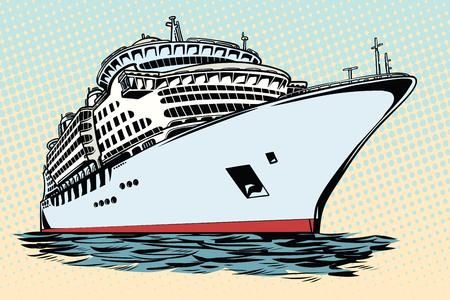 クルーズ船の休暇海旅行  イラスト・ベクター素材