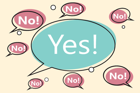 no yes comic bubble Ilustrace