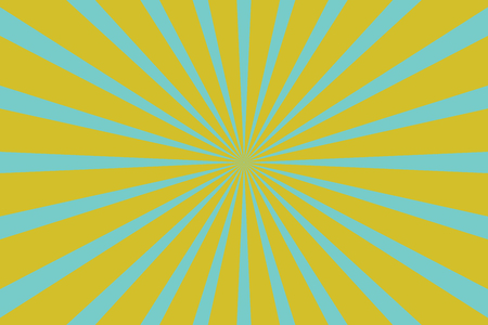 Yellow blue pop art background with rays. retro vector illustration