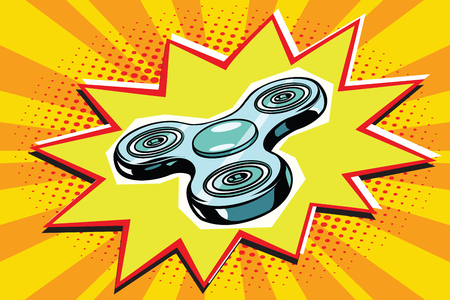 fidget hand spinner. Antistress toy. Pop art retro vector illustration Illusztráció