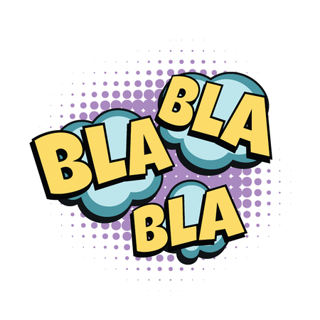 bla comic word