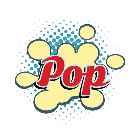 word pop comic style