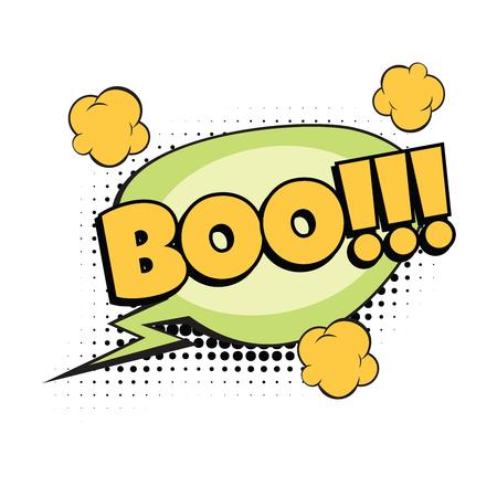 boo comic word Illustration