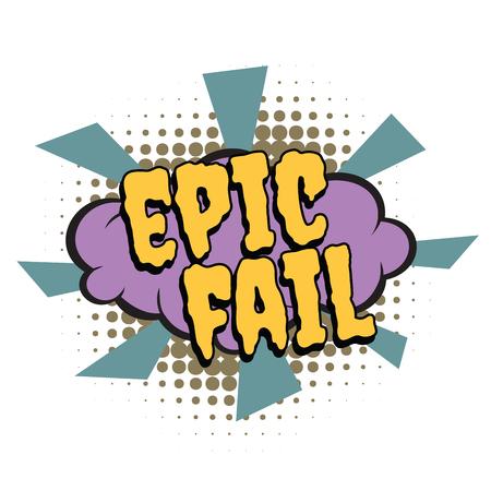 episch faalt komisch woord Stock Illustratie
