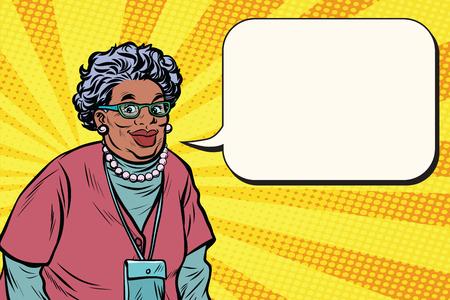 笑みを浮かべて美しいアフリカ老婆、おばあちゃんの肖像画