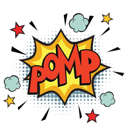 pomp comic word Stock Photo