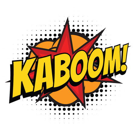 kaboom comic word Stock Photo