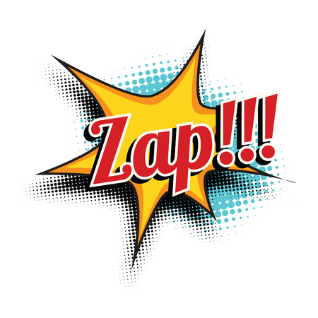 zap comic word. Pop art retro vector illustration