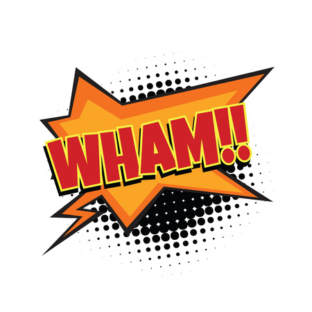 cartoon bomb: wham comic word. Pop art retro vector illustration