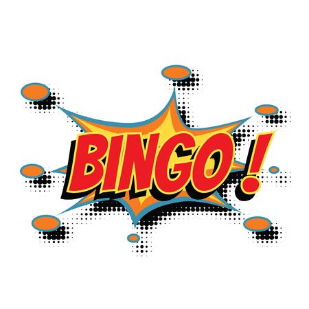 bingo comic word. Pop art retro vector illustration Stok Fotoğraf
