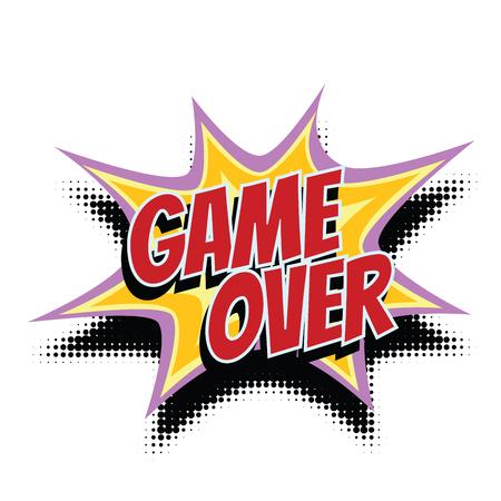game over comic word. Pop art retro vector illustration Ilustrace