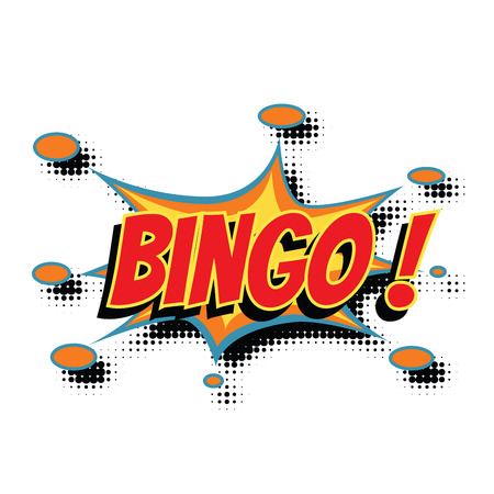 bingo comic word. Pop art retro vector illustration Illustration