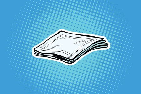 Paper napkins or handkerchiefs. Pop art retro comic book vector illustration Stok Fotoğraf