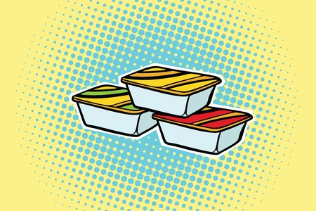 packing fast food sauce. Pop art retro comic book vector illustration Stok Fotoğraf - 82680771