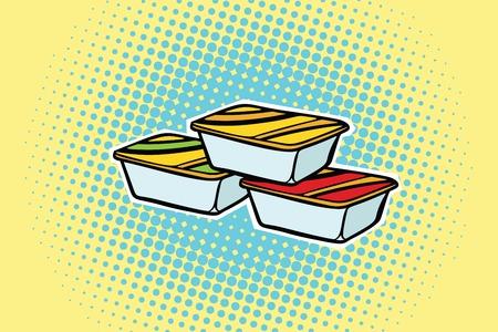Verpackung Fast-Food-Sauce. Pop-Art Retro Comic-Buch Vektor-Illustration Standard-Bild - 82680771