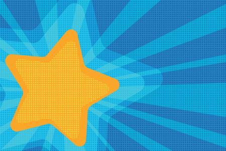 background yellow star pop art. retro vector illustration Stock Photo