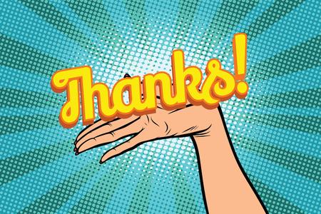Merci mot. Les femmes ouvrir la paume main tenir le geste Banque d'images - 82985863