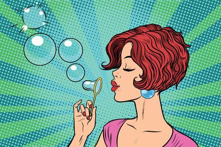 若い女性が泡を吹いて