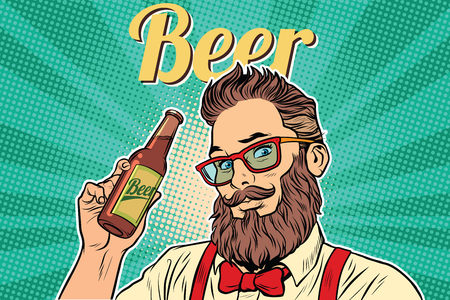 uniformity: bearded hipster beer