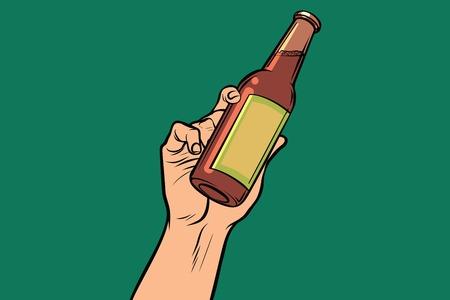 손에 음료와 병 스톡 콘텐츠 - 83010037