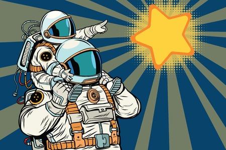 宇宙飛行士の家族、子、父